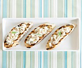 Cream cheese,white haricot bean and sage crostinis