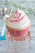 Pomegranate syrup cupcake
