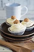 Coffee Amaretti cupcakes