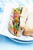 Ciabatta-Sandwich mit Lachs
