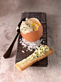 Soft-boiled egg with truffles