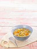 Oat soup with vegetables