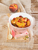 Peach and cranberry compote