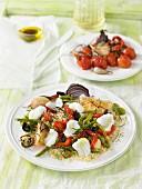 Quinoa mit Gemüse und Stockfisch