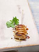 Chicken skewer with honey