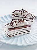 Chocolate iced mille-feuille