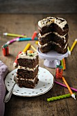 Carrot and chocolate layer cake