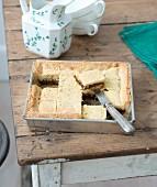 Fig shortbread pie