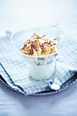Banoffee pie with muesli