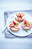 Strawberry and quark tartlets