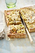 Pistachio and Rhubarb tart