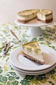 Matcha green tea marble cheesecake