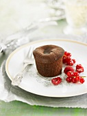 Individual sugar-free runny chocolate pudding