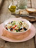 White haricot bean and salt cod salad