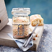 Jar of salmon terrine