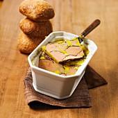 Foie gras and cocoa terrine