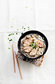 Ramen pork soup
