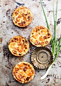 Tartlets with fresh water prawns