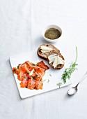 Gravlax salmon