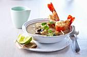 Polynesian artichoke and aubergine soup