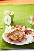 Green apple tatin tartlets