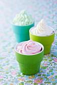 Whipped cream trio
