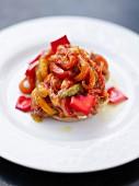 Paprika-Confit auf Röstbrot