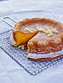Pumpkin and confit orange rind pudding