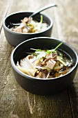 Noodle and tofu Asian soup