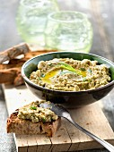 Green tapenade with almonds and tarragon