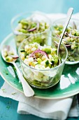 Green vegetable tartare with dill