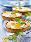 Lemon curd and lemon balm tartlets