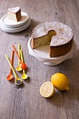 Lemon-poppyseed chiffon cake