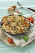 Spaghetti alla vongole (Spaghetti mit Venusmuscheln, Italien)
