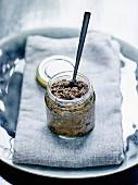 Pot of olive paste