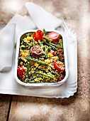 Quinoa and summer vegetable salad