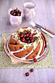 Cherry and pistachio Bundt cake