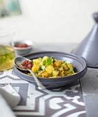 Potato, onion and coriander tajine