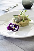 Crab meat and Marenne d'Oléron oyster duo timbale,Granny Smith apple and avocado