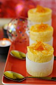 Clementine and mango mini iced soufflés