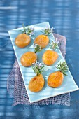 Roasted apricots with rosemary