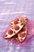 Raspberry and pistachio Financiers