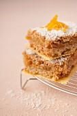 Porridge and apricot squares
