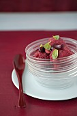 White-heart cherry sorbet with basil