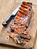 Glazed spare-ribs