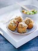 Seedy goat's cheese savoury muffins