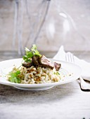 Risotto and Thai-style fillet of beef