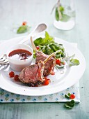 Veal chops with redcurrant sauce