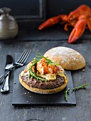 Burger with lobster
