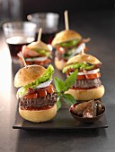 Brie,bacon and onion jam hamburgers